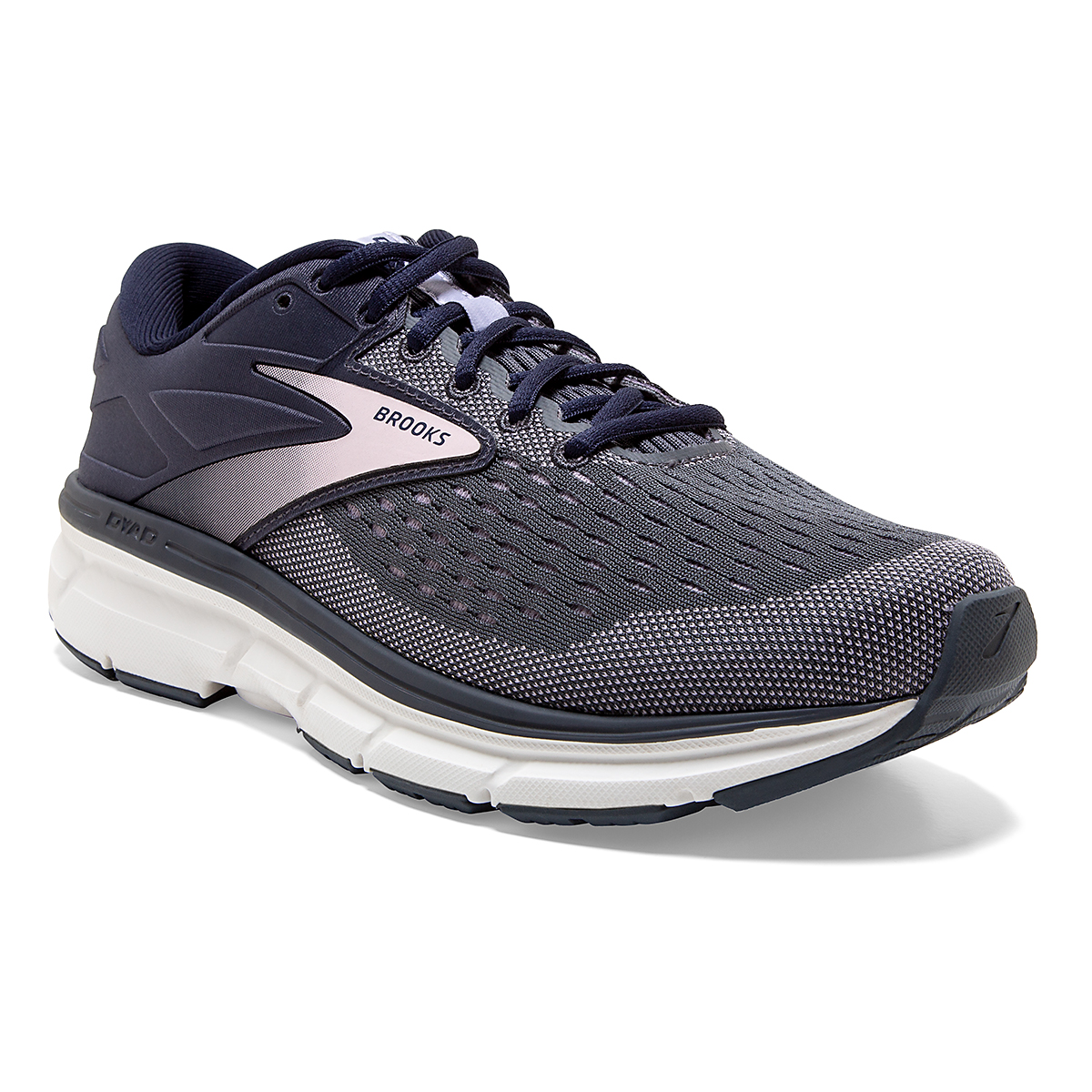 Women's Brooks Dyad 11 Running Shoe - Color: Ombre/Primrose  - Size: 6 - Width: Regular, Ombre/Primrose, large, image 3