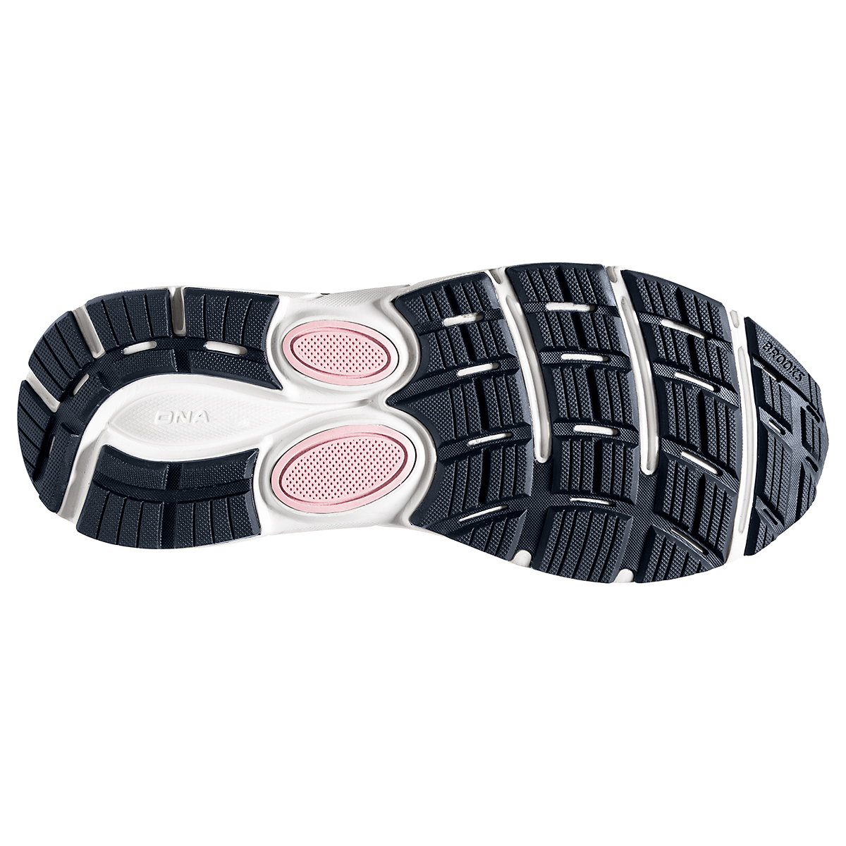 Women's Brooks Dyad 11 Running Shoe - Color: Ombre/Primrose  - Size: 6 - Width: Regular, Ombre/Primrose, large, image 6