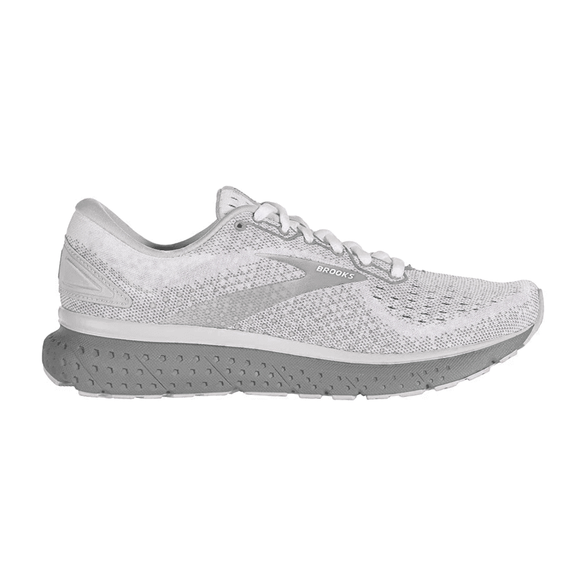 Women's Brooks Glycerin 18 Running Shoe - Color: White/Grey - Size: 5 - Width: Regular, White/Grey, large, image 1