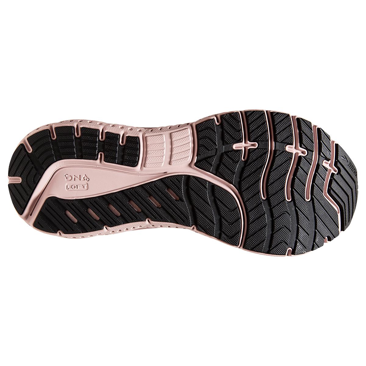 Women's Brooks Transcend 7 Running Shoe - Color: Grey/Black/Hushed Pink - Size: 6 - Width: Regular, Grey/Black/Hushed Pink, large, image 3