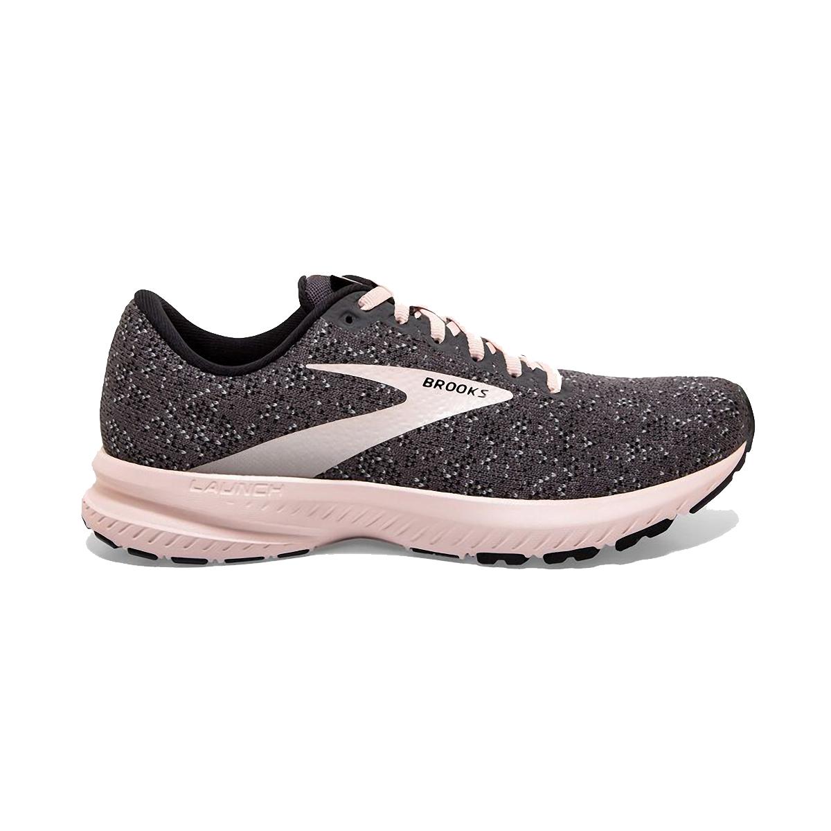 Women's Brooks Launch 7 Running Shoe - Color: Black/Pearl/Pink - Size: 5 - Width: Regular, Black/Pearl/Pink, large, image 1