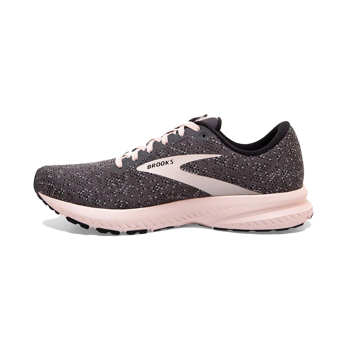 Women's Brooks Launch 7 Running Shoe - Color: Black/Pearl/Pink - Size: 5 - Width: Regular, Black/Pearl/Pink, large, image 2