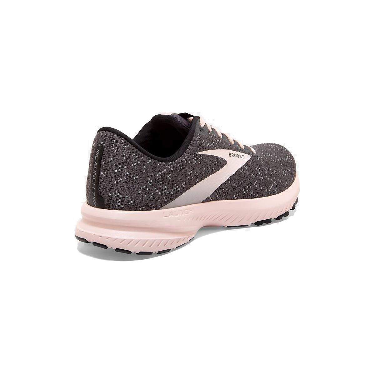Women's Brooks Launch 7 Running Shoe - Color: Black/Pearl/Pink - Size: 5 - Width: Regular, Black/Pearl/Pink, large, image 4