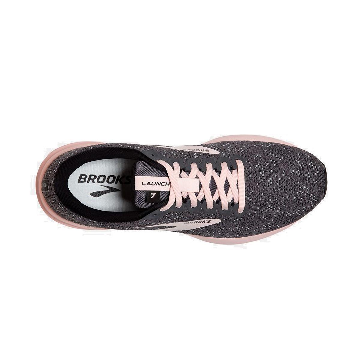 Women's Brooks Launch 7 Running Shoe - Color: Black/Pearl/Pink - Size: 5 - Width: Regular, Black/Pearl/Pink, large, image 5