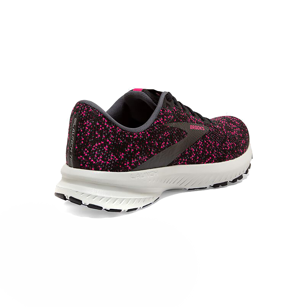 Women's Brooks Launch 7 Running Shoe - Color: Black/Ebony/Beetroot - Size: 5 - Width: Regular, Black/Ebony/Beetroot, large, image 4