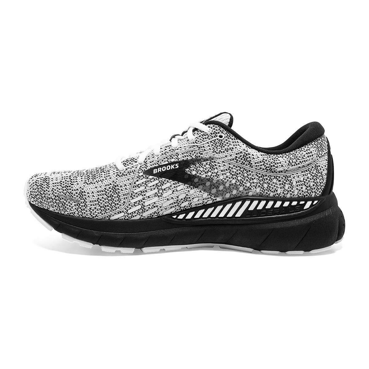 Women's Brooks Adrenaline GTS 21 Running Shoe - Color: White/Grey/Black - Size: 7.5 - Width: Regular, White/Grey/Black, large, image 2
