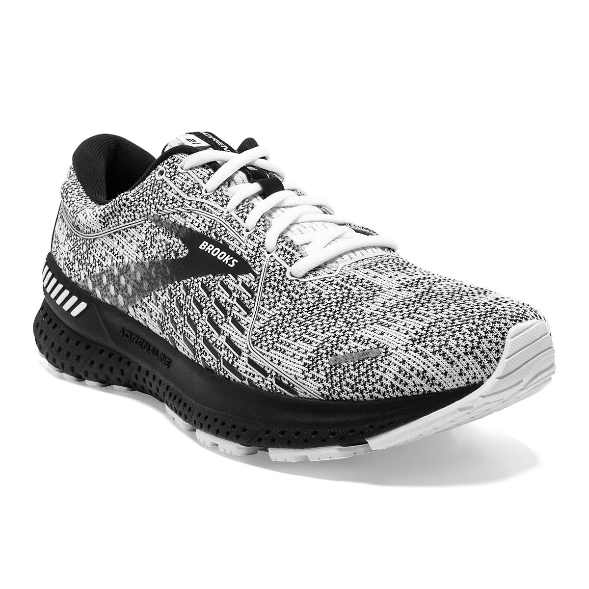 Women's Brooks Adrenaline GTS 21 Running Shoe - Color: White/Grey/Black - Size: 7.5 - Width: Regular, White/Grey/Black, large, image 1