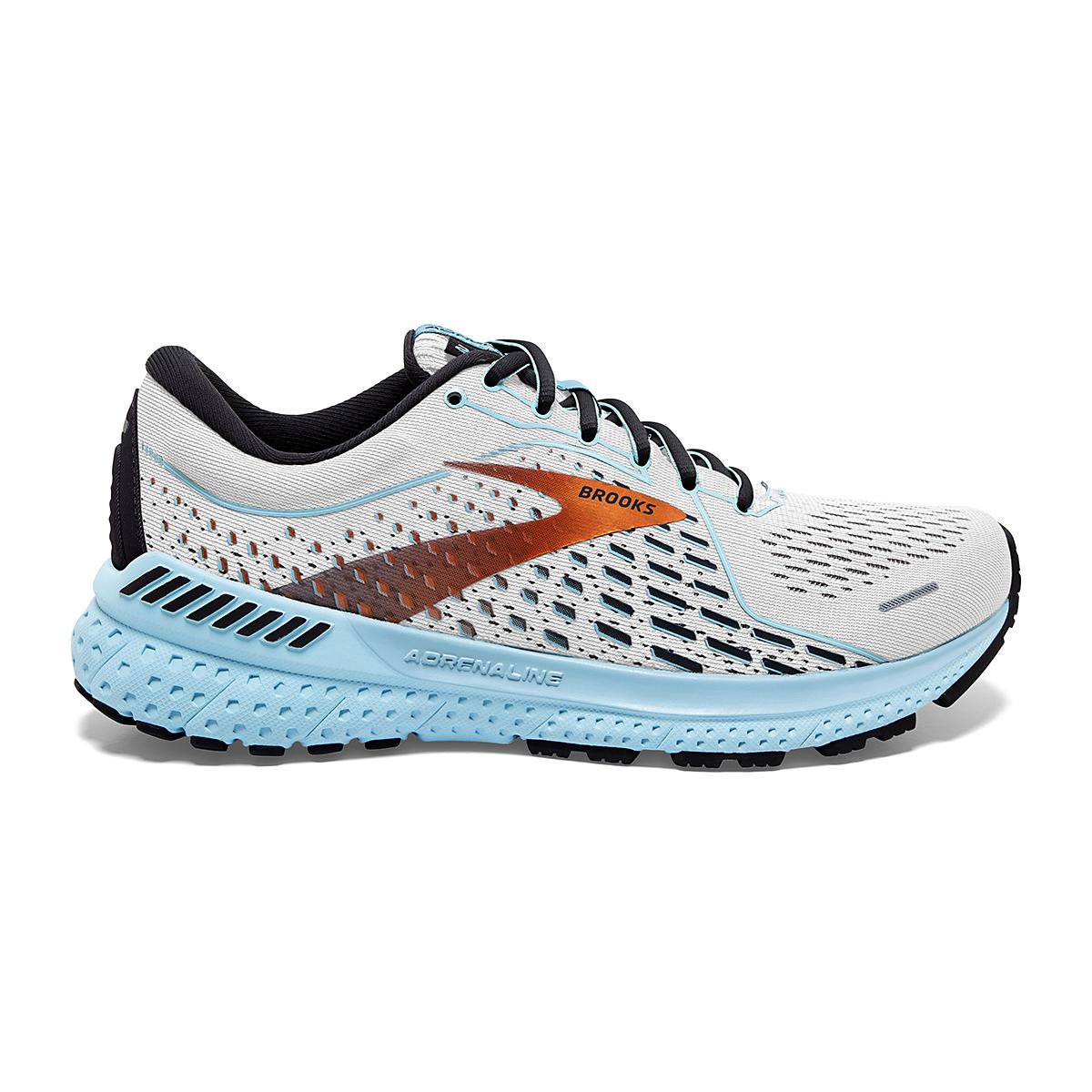 Women's Brooks Adrenaline GTS 21 Running Shoe - Color: White/Alloy - Size: 5 - Width: Regular, White/Alloy, large, image 1