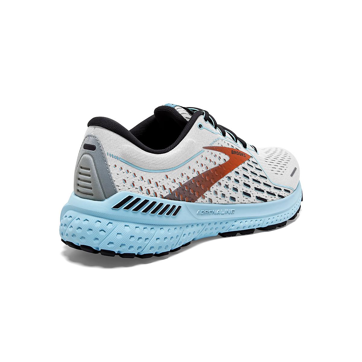 Women's Brooks Adrenaline GTS 21 Running Shoe - Color: White/Alloy - Size: 5 - Width: Regular, White/Alloy, large, image 4
