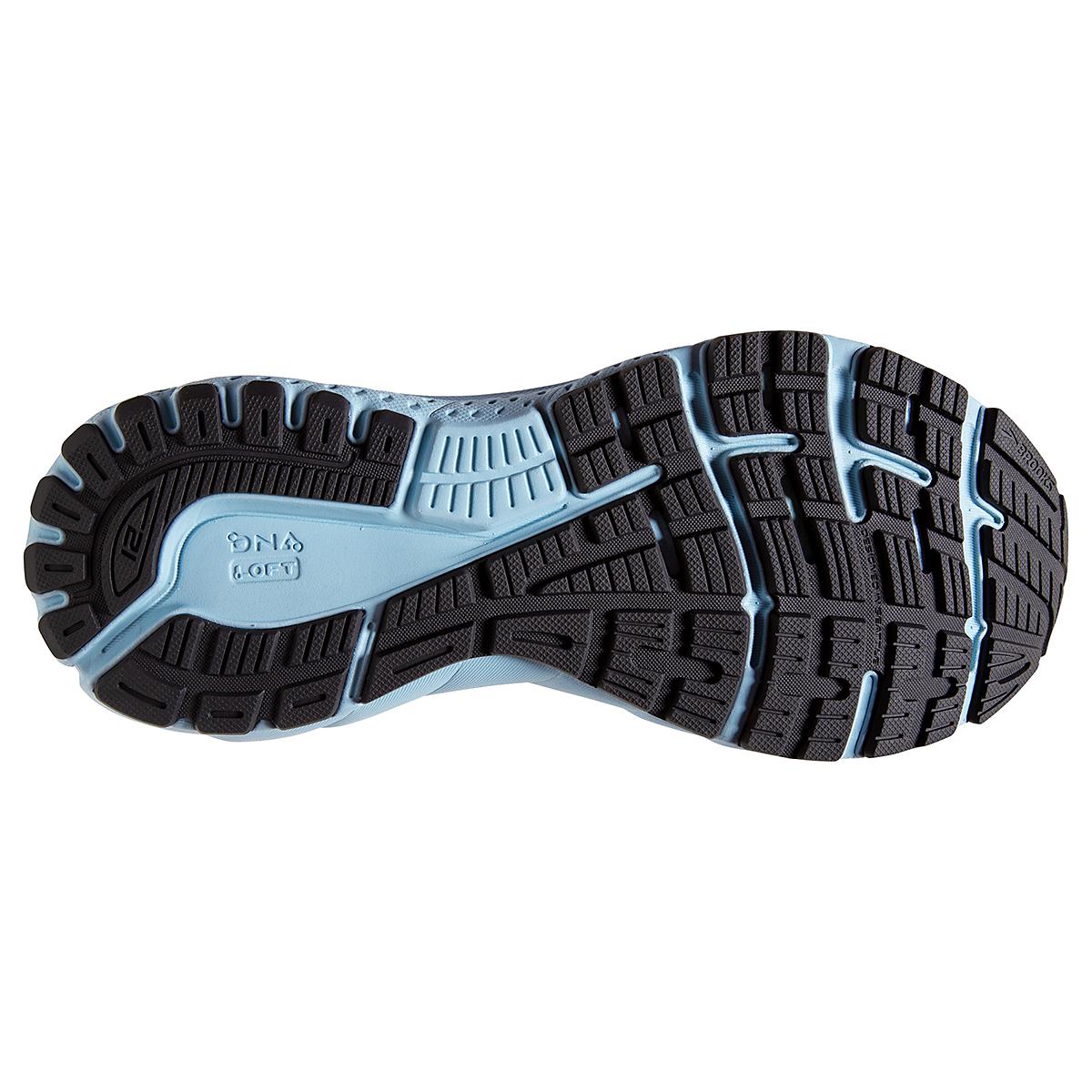 Women's Brooks Adrenaline GTS 21 Running Shoe - Color: White/Alloy - Size: 5 - Width: Regular, White/Alloy, large, image 5