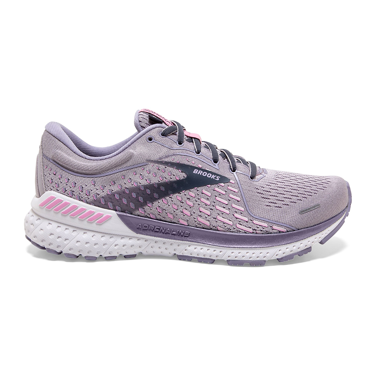 Women's Brooks Adrenaline GTS 21 Running Shoe - Color: Iris/Lilac  - Size: 5 - Width: Regular, Iris/Lilac, large, image 1