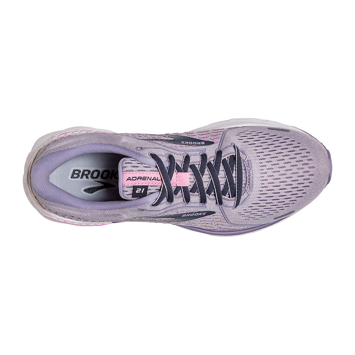 Women's Brooks Adrenaline GTS 21 Running Shoe - Color: Iris/Lilac  - Size: 5 - Width: Regular, Iris/Lilac, large, image 2