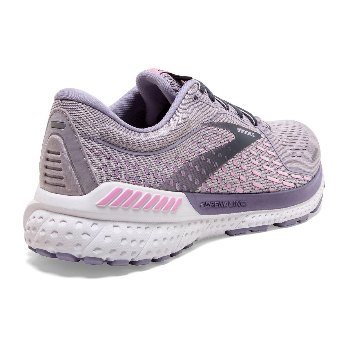 Women's Brooks Adrenaline GTS 21 Running Shoe - Color: Iris/Lilac  - Size: 5 - Width: Regular, Iris/Lilac, large, image 3