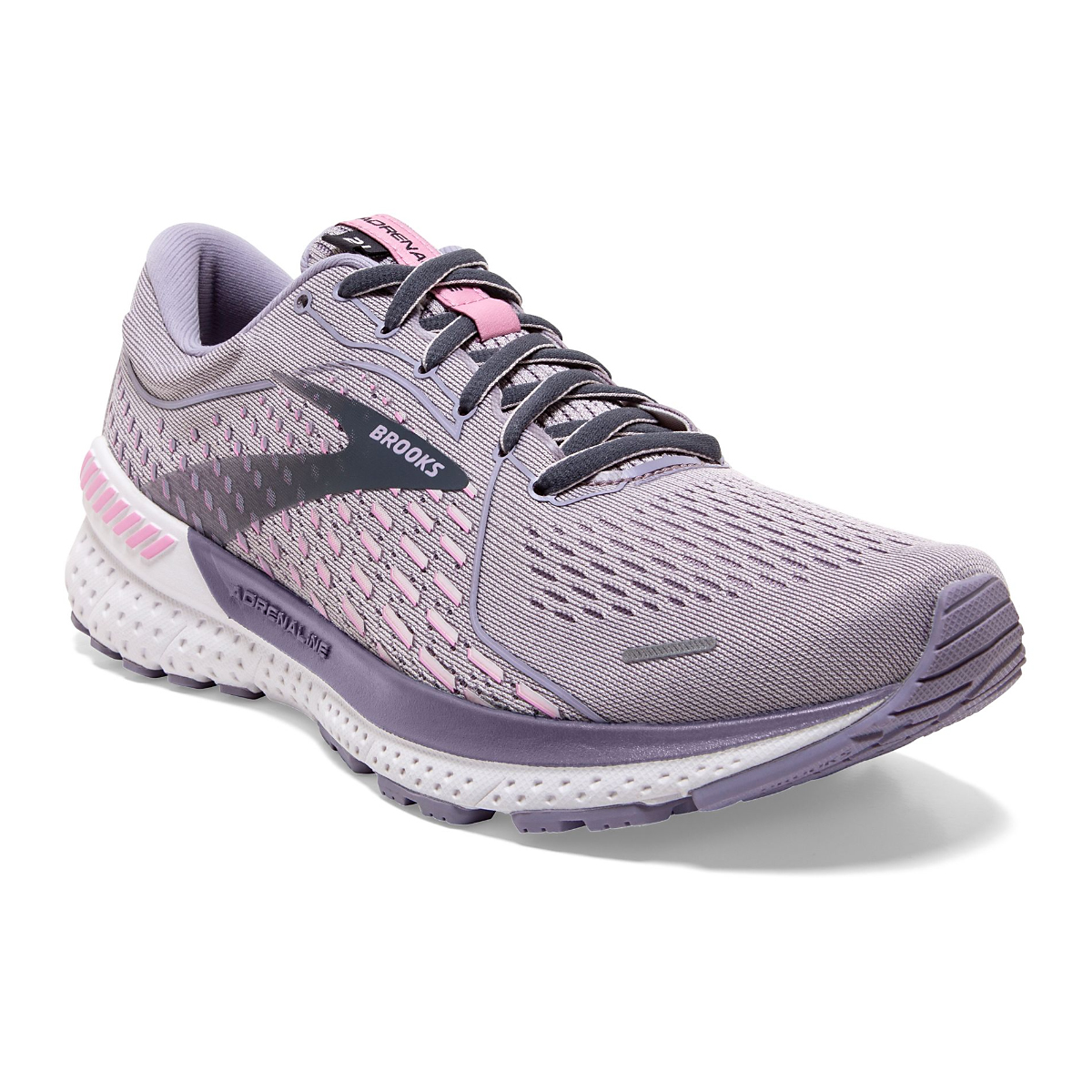 Women's Brooks Adrenaline GTS 21 Running Shoe - Color: Iris/Lilac  - Size: 5 - Width: Regular, Iris/Lilac, large, image 4