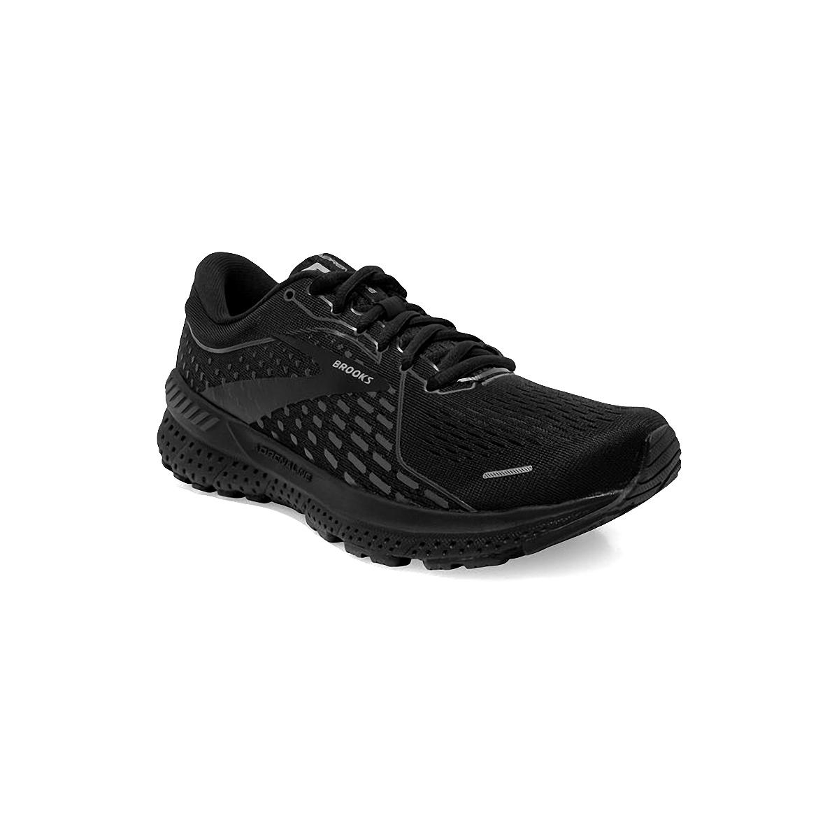 Women's Brooks Adrenaline GTS 21 Running Shoe - Color: Black/Black/Ebony - Size: 5 - Width: Regular, Black/Black/Ebony, large, image 3