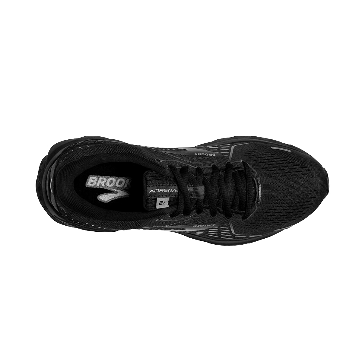 Women's Brooks Adrenaline GTS 21 Running Shoe - Color: Black/Black/Ebony - Size: 5 - Width: Regular, Black/Black/Ebony, large, image 4