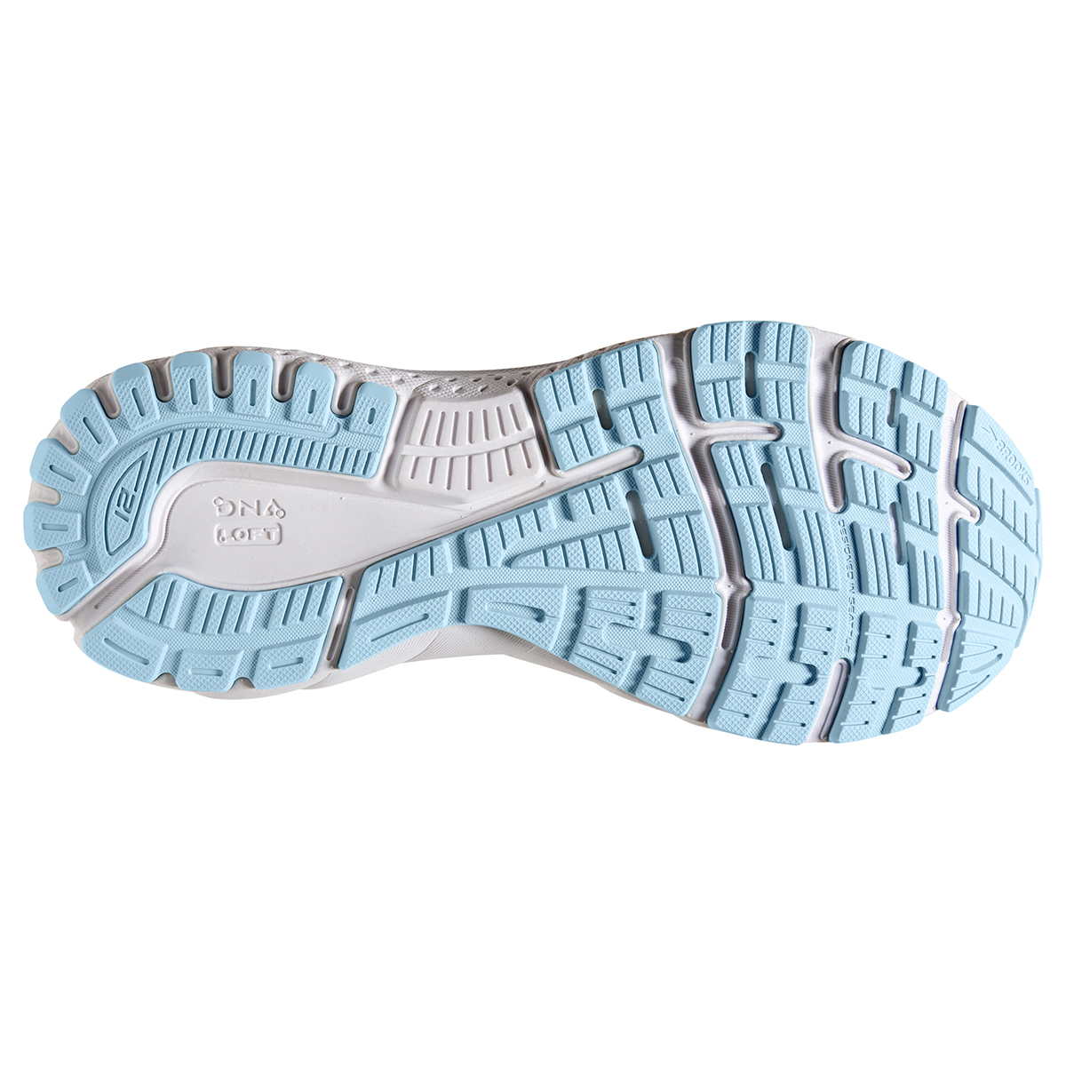 Women's Brooks Adrenaline GTS 21 Running Shoe - Color: Oyster/Alloy/Light Blue - Size: 5 - Width: Wide, Oyster/Alloy/Light Blue, large, image 6
