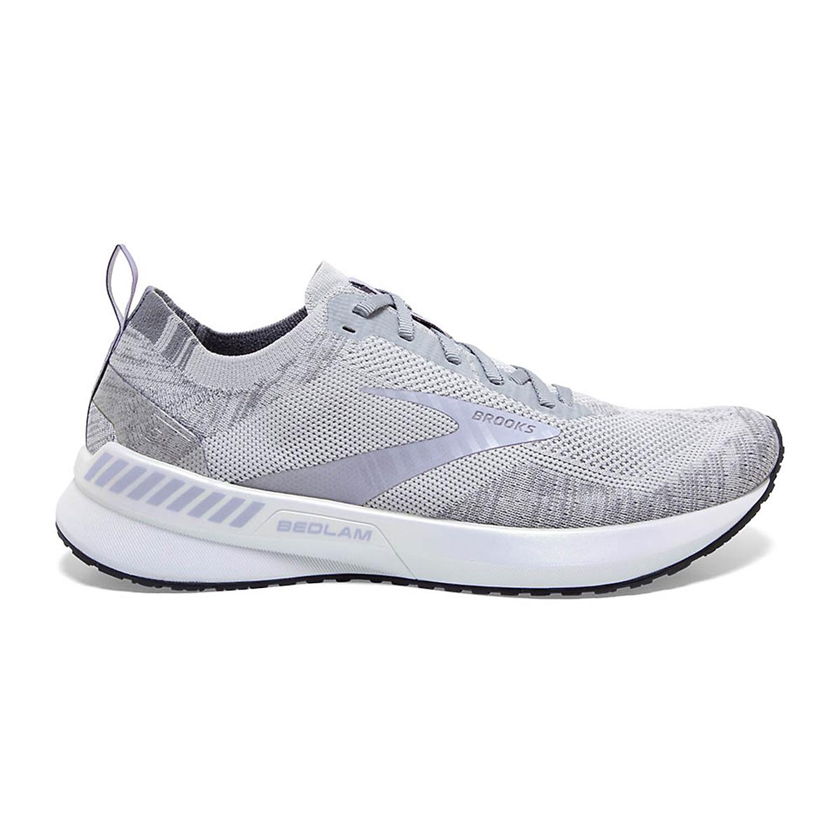 Women's Brooks Bedlam 3 Running Shoe - Color: Oyster/Purple Heather - Size: 5 - Width: Regular, Oyster/Purple Heather, large, image 1