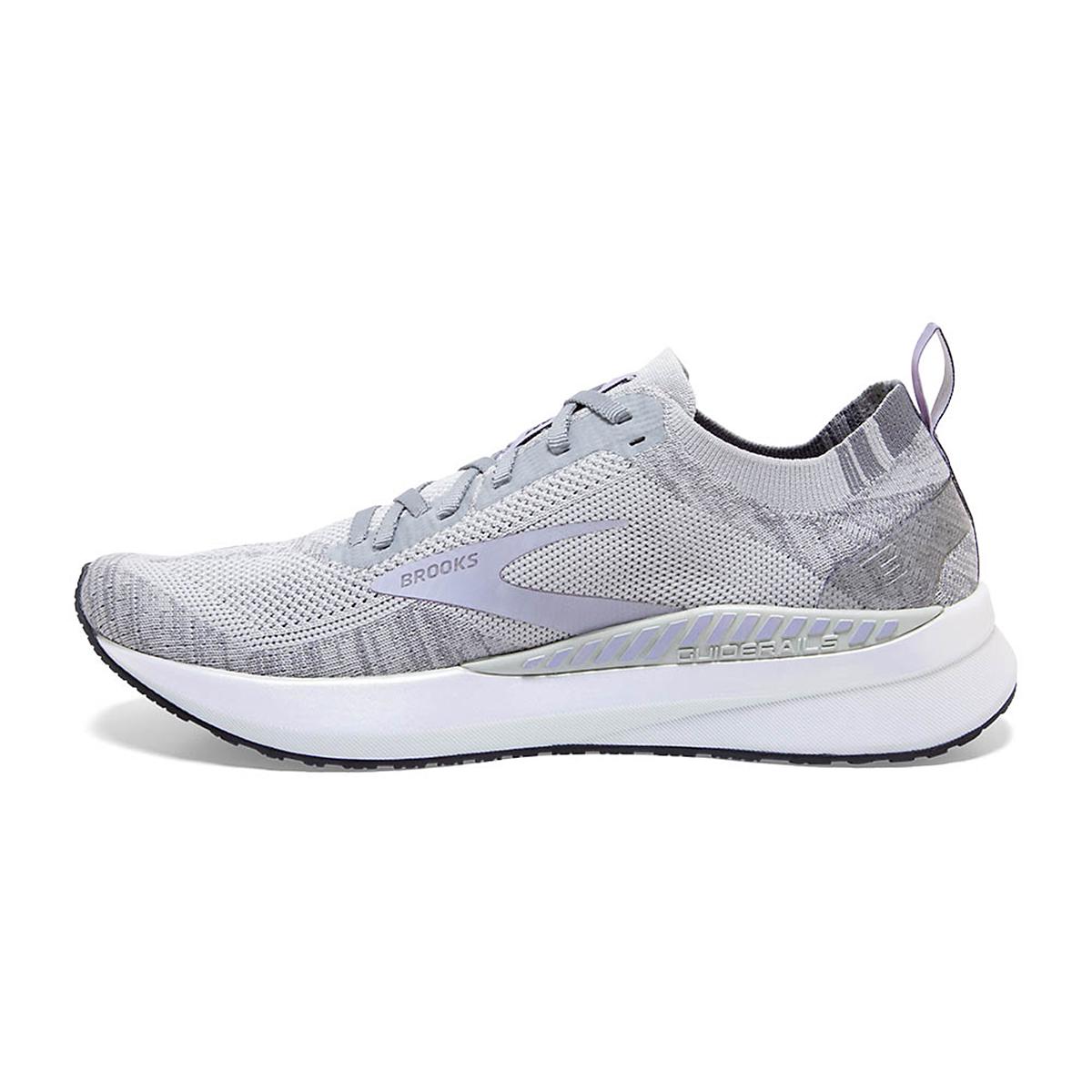 Women's Brooks Bedlam 3 Running Shoe - Color: Oyster/Purple Heather - Size: 5 - Width: Regular, Oyster/Purple Heather, large, image 2