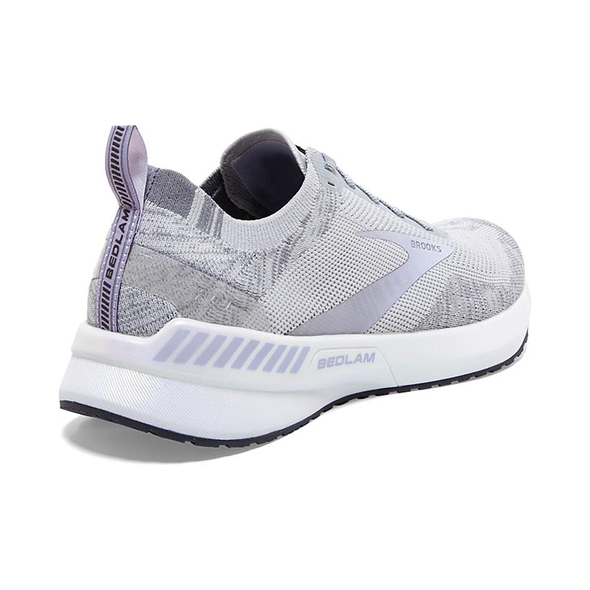 Women's Brooks Bedlam 3 Running Shoe - Color: Oyster/Purple Heather - Size: 5 - Width: Regular, Oyster/Purple Heather, large, image 4