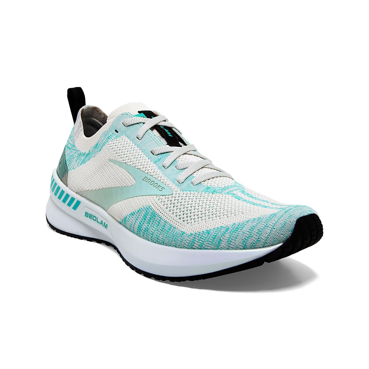 Women's Brooks Bedlam 3 Running Shoe - Color: Jet Stream/Atlantis/Antarctica - Size: 5 - Width: Regular, Jet Stream/Atlantis/Antarctica, large, image 3