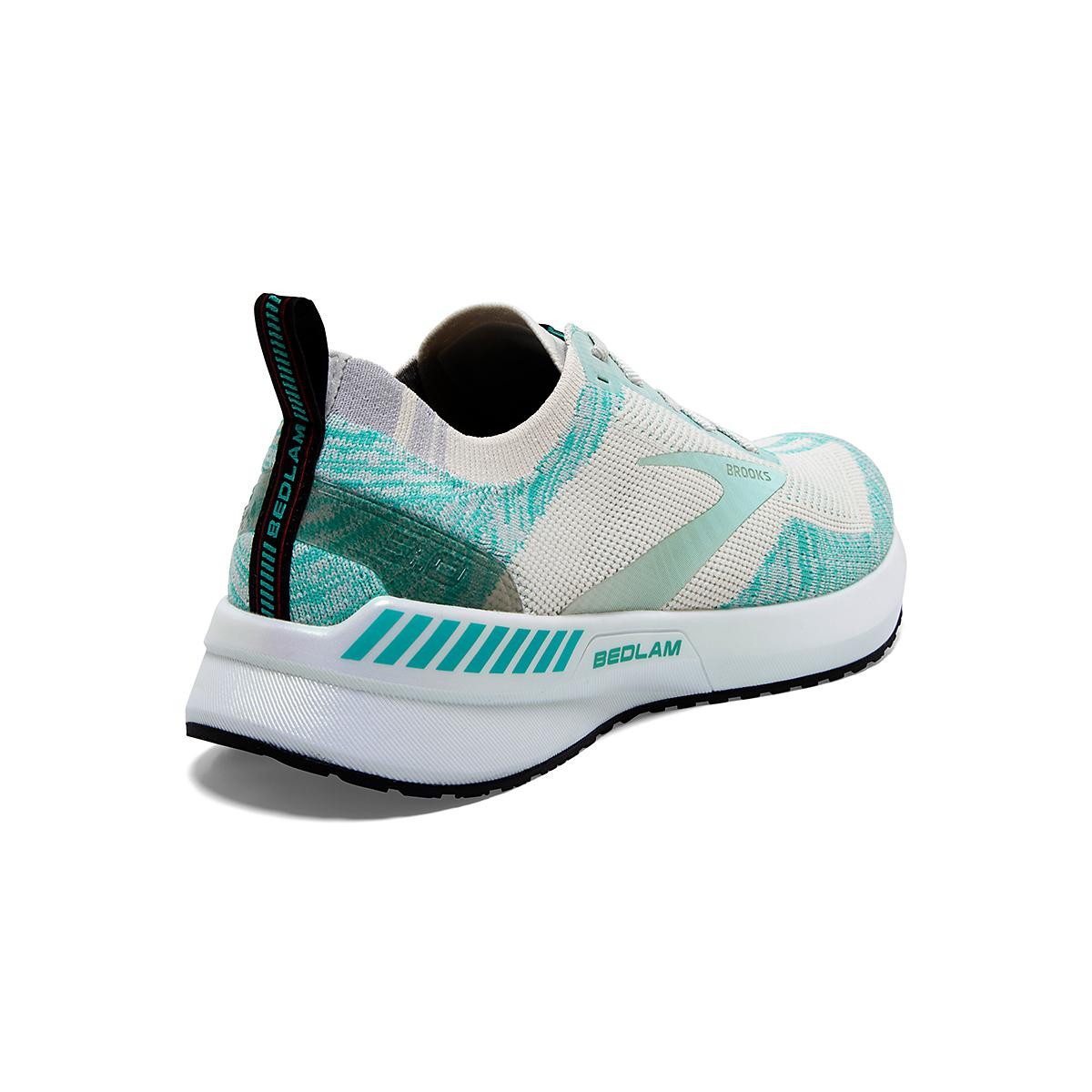 Women's Brooks Bedlam 3 Running Shoe - Color: Jet Stream/Atlantis/Antarctica - Size: 5 - Width: Regular, Jet Stream/Atlantis/Antarctica, large, image 4