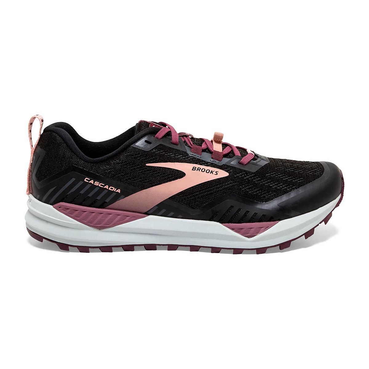 Women's Brooks Cascadia 15 Trail Running Shoe - Color: Black/Ebony/Coral - Size: 10.5 - Width: Regular, Black/Ebony/Coral, large, image 1