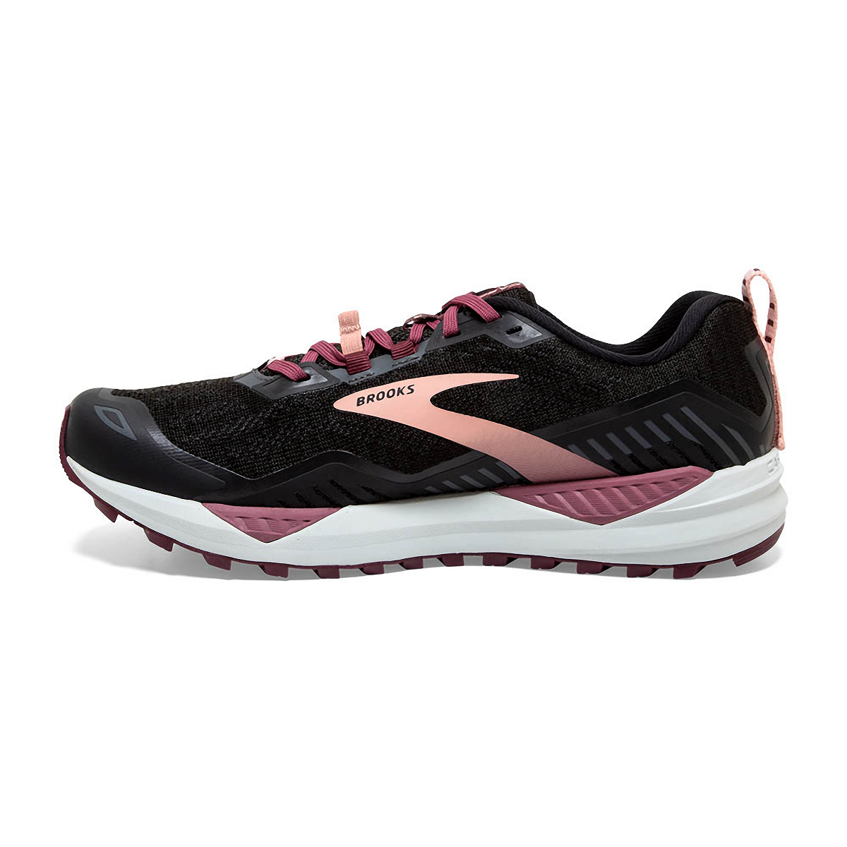 Women's Brooks Cascadia 15 Trail Running Shoe - Color: Black/Ebony/Coral - Size: 10.5 - Width: Regular, Black/Ebony/Coral, large, image 2
