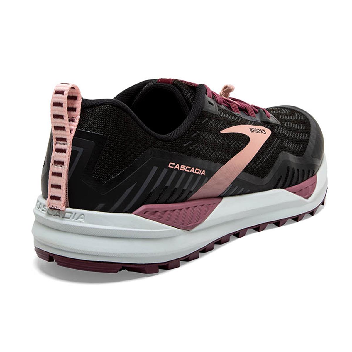 Women's Brooks Cascadia 15 Trail Running Shoe - Color: Black/Ebony/Coral - Size: 10.5 - Width: Regular, Black/Ebony/Coral, large, image 4