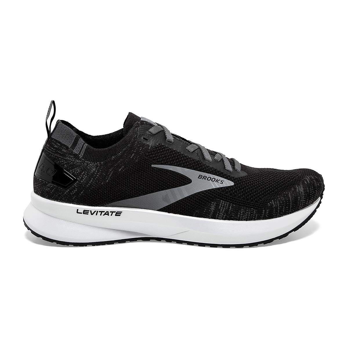 Women's Brooks Levitate 4 Running Shoe - Color: Black/Blackened Pearl/White - Size: 5.5 - Width: Regular, Black/Blackened Pearl/White, large, image 1
