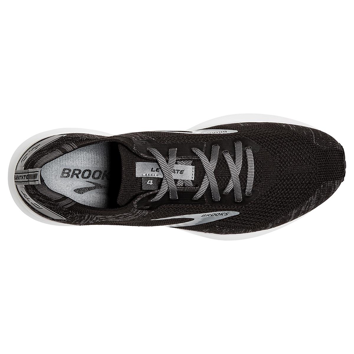 Women's Brooks Levitate 4 Running Shoe - Color: Black/Blackened Pearl/White - Size: 5.5 - Width: Regular, Black/Blackened Pearl/White, large, image 3