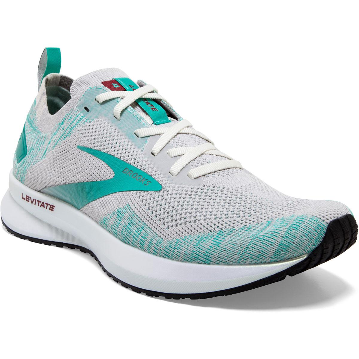 Women's Brooks Levitate 4 Running Shoe - Color: Antarctica/Atlantis/White - Size: 5.5 - Width: Regular, Antarctica/Atlantis/White, large, image 2