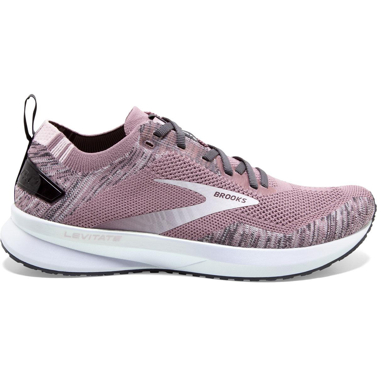 Women's Brooks Levitate 4 Running Shoe - Color: Blackened Pearl - Size: 5.5 - Width: Regular, Blackened Pearl, large, image 1