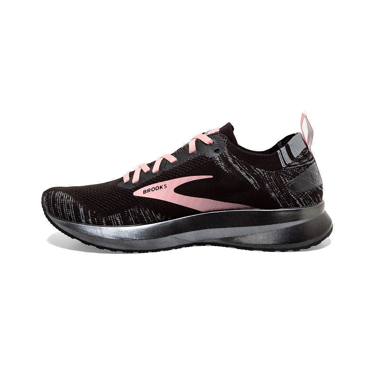 Women's Brooks Levitate 4 Running Shoe - Color: Black/Grey/Coral - Size: 5 - Width: Regular, Black/Grey/Coral, large, image 2