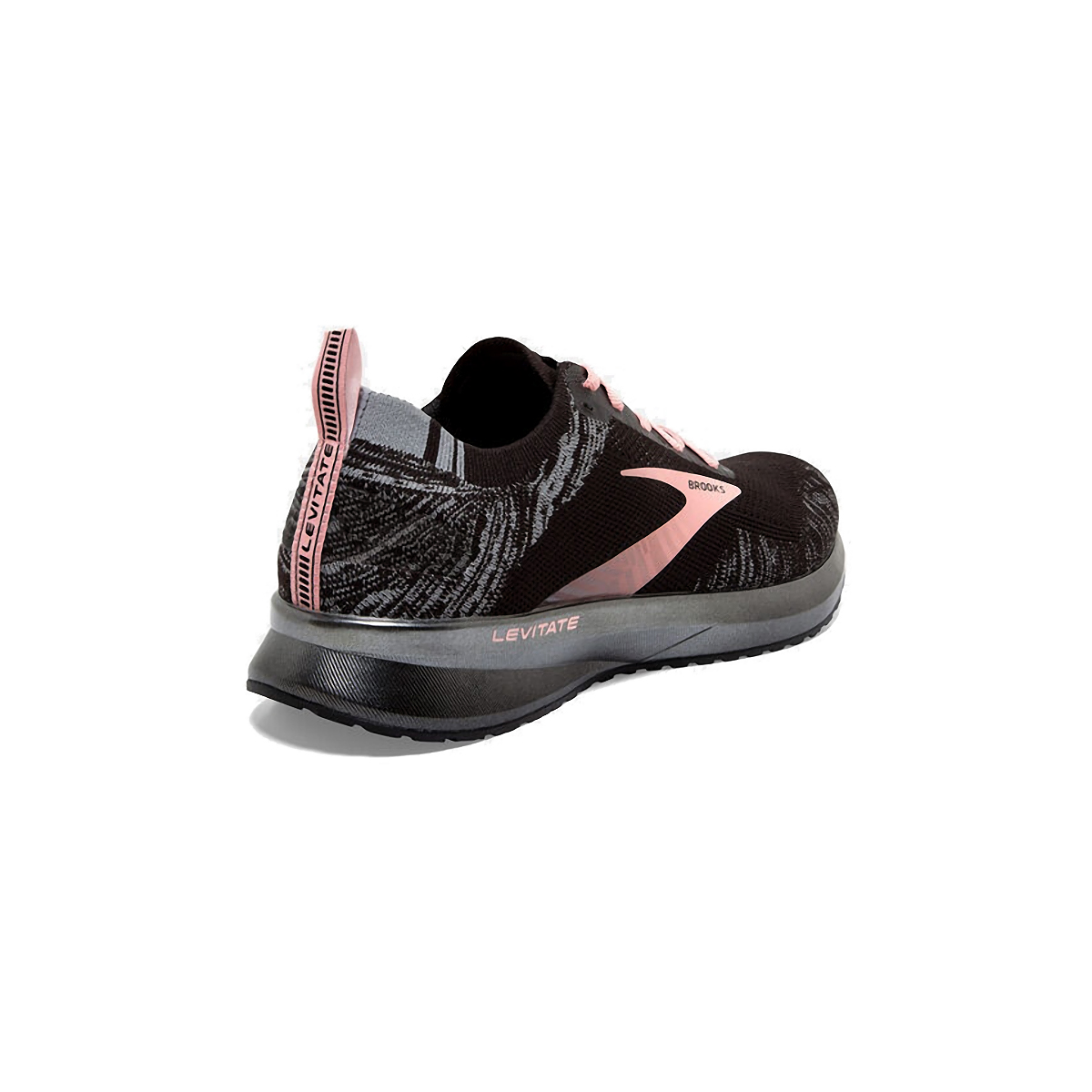 Women's Brooks Levitate 4 Running Shoe - Color: Black/Grey/Coral - Size: 5 - Width: Regular, Black/Grey/Coral, large, image 4