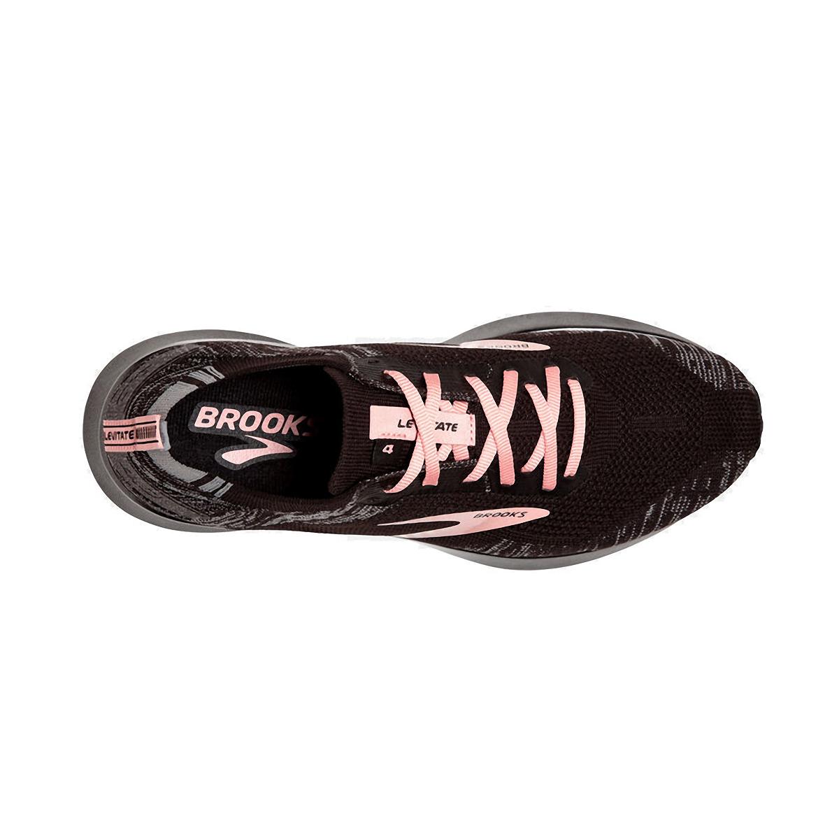 Women's Brooks Levitate 4 Running Shoe - Color: Black/Grey/Coral - Size: 5 - Width: Regular, Black/Grey/Coral, large, image 5