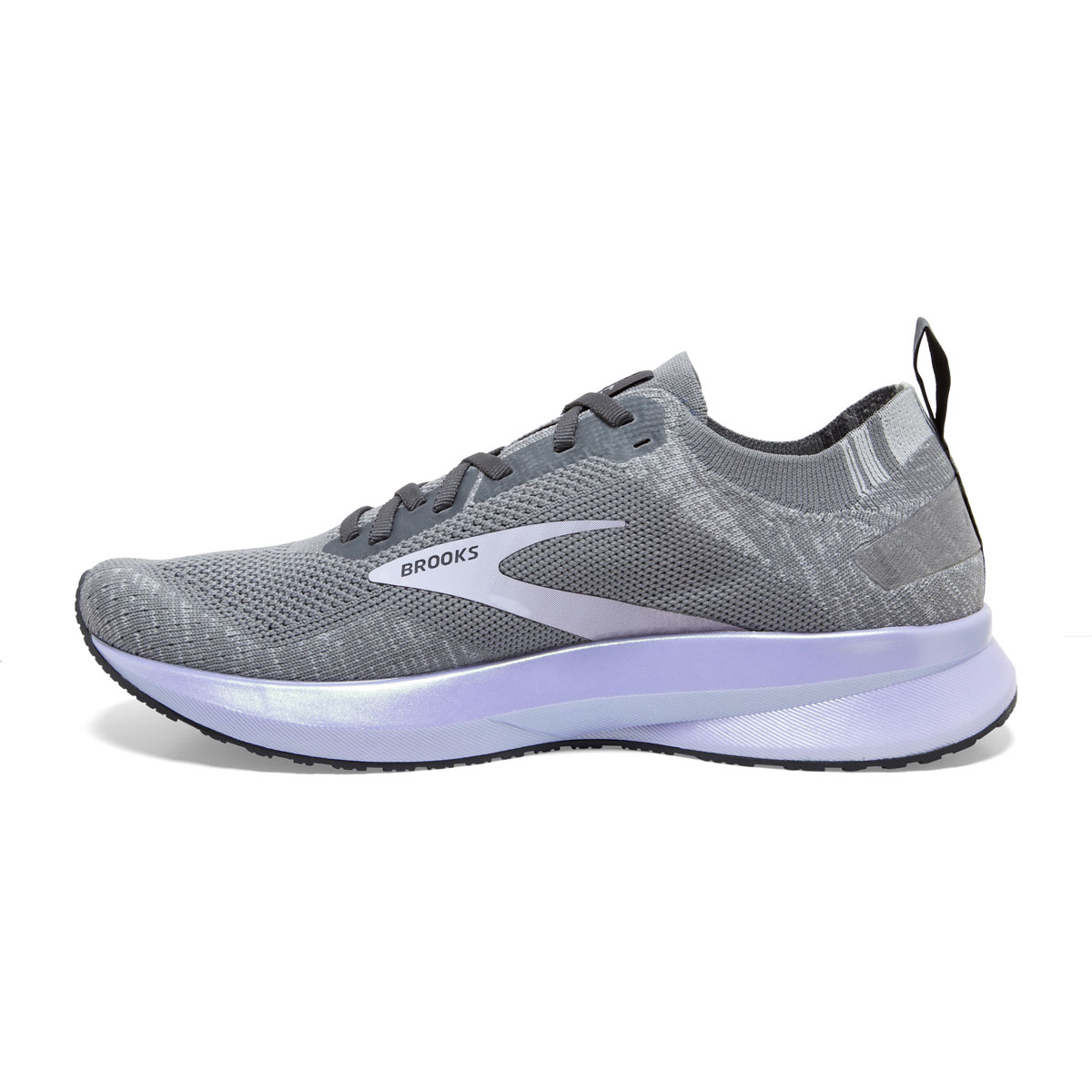Women's Brooks Levitate 4 Running Shoe - Color: Grey/Blackened Pearl/Purple - Size: 5 - Width: Regular, Grey/Blackened Pearl/Purple, large, image 3