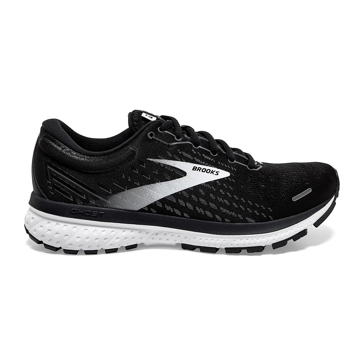 Women's Brooks Ghost 13 Running Shoe - Color: Black/Blackened - Size: 5 - Width: Regular, Black/Blackened, large, image 1