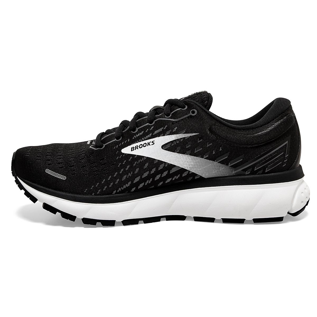Women's Brooks Ghost 13 Running Shoe - Color: Black/Blackened - Size: 5 - Width: Regular, Black/Blackened, large, image 2