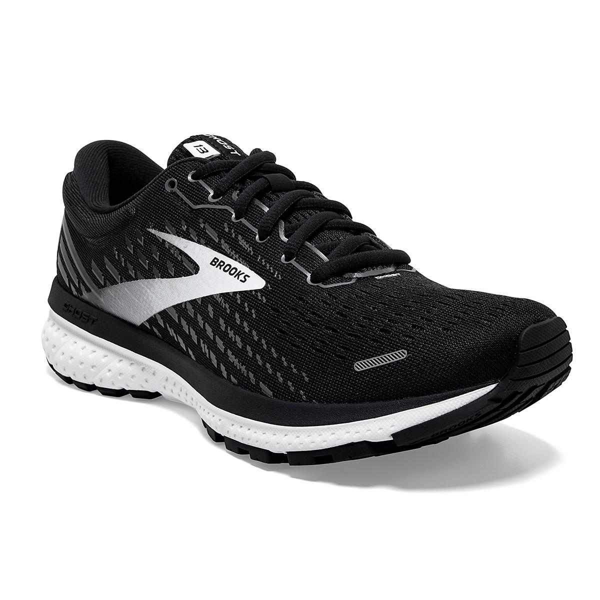 Women's Brooks Ghost 13 Running Shoe - Color: Black/Blackened - Size: 5 - Width: Regular, Black/Blackened, large, image 4