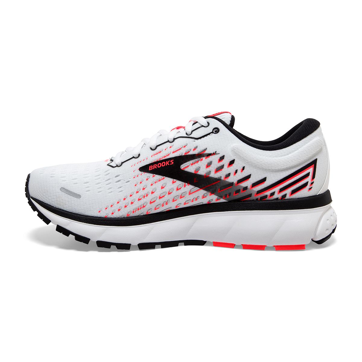 Women's Brooks Ghost 13 Running Shoe - Color: White/Pink/Black - Size: 5 - Width: Regular, White/Pink/Black, large, image 5