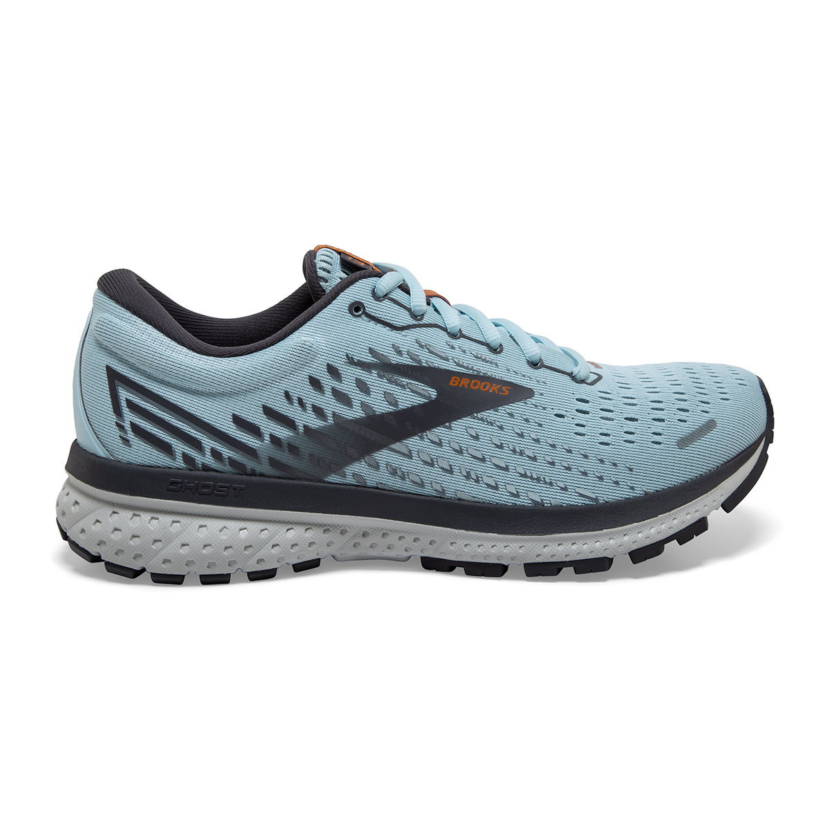 Women's Brooks Ghost 13 Running Shoe - Color: Light Blue/Black - Size: 5 - Width: Regular, Light Blue/Black, large, image 1
