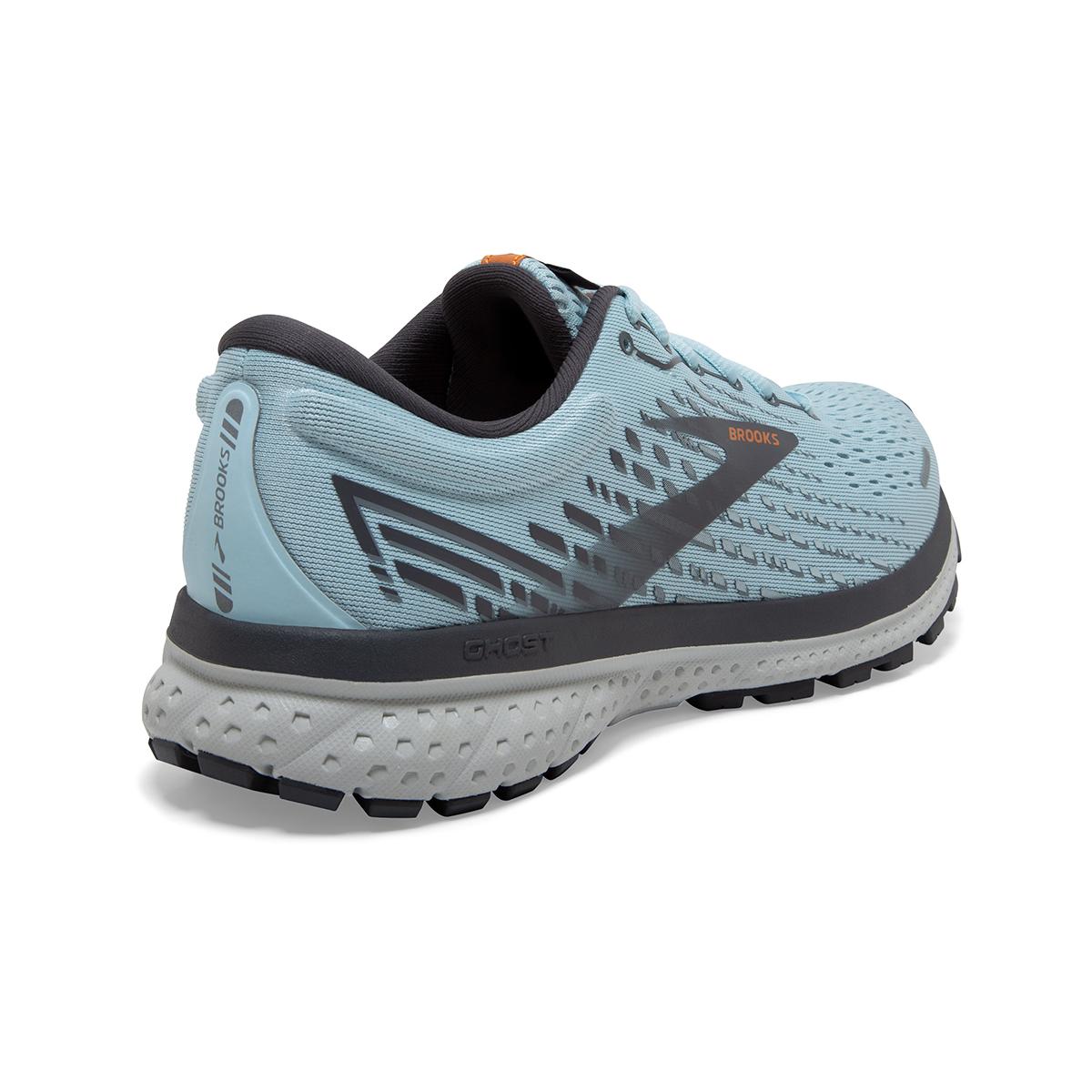 Women's Brooks Ghost 13 Running Shoe - Color: Light Blue/Black - Size: 5 - Width: Regular, Light Blue/Black, large, image 6