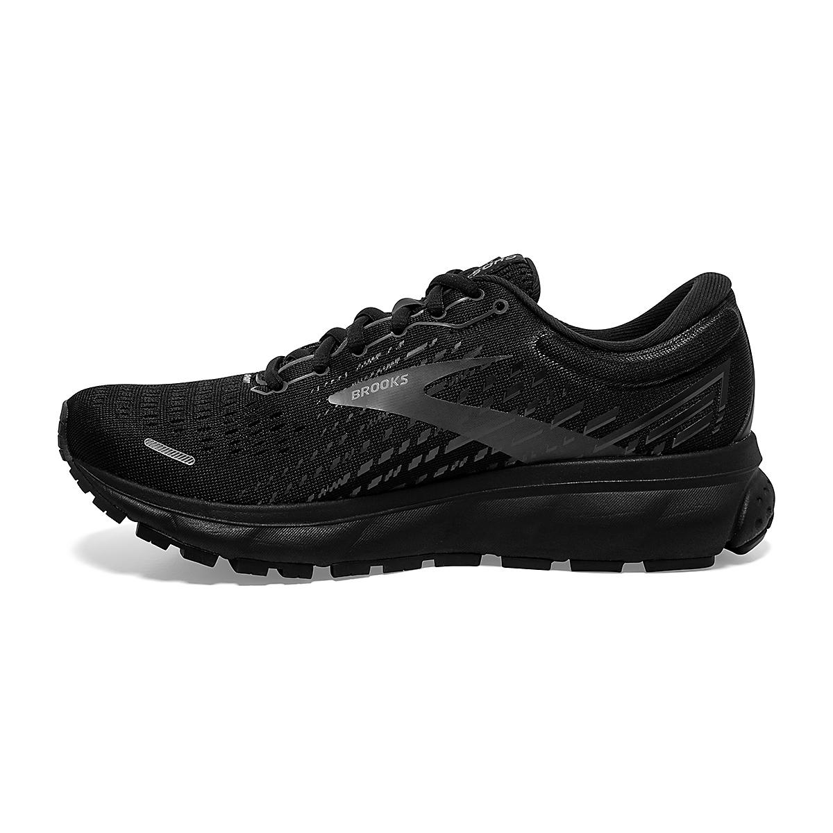 Women's Brooks Ghost 13 Running Shoe - Color: Black/Black - Size: 5 - Width: Regular, Black/Black, large, image 2