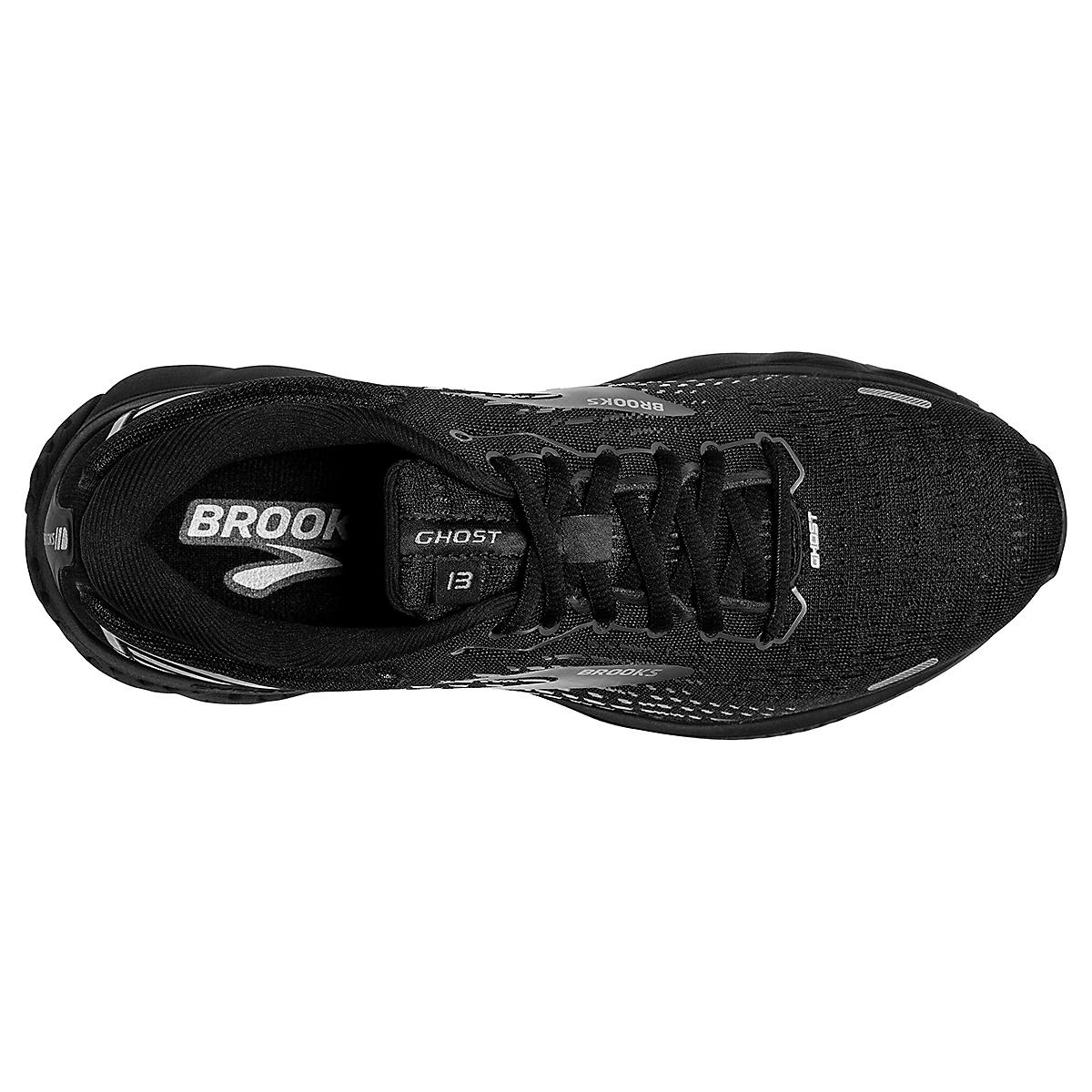 Women's Brooks Ghost 13 Running Shoe - Color: Black/Black - Size: 5 - Width: Regular, Black/Black, large, image 3