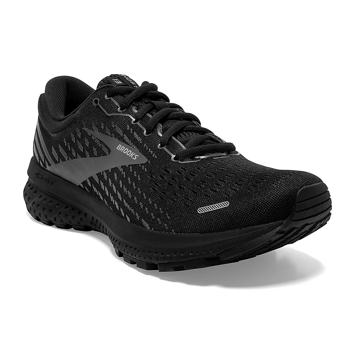 Women's Brooks Ghost 13 Running Shoe - Color: Black/Black - Size: 5 - Width: Regular, Black/Black, large, image 5