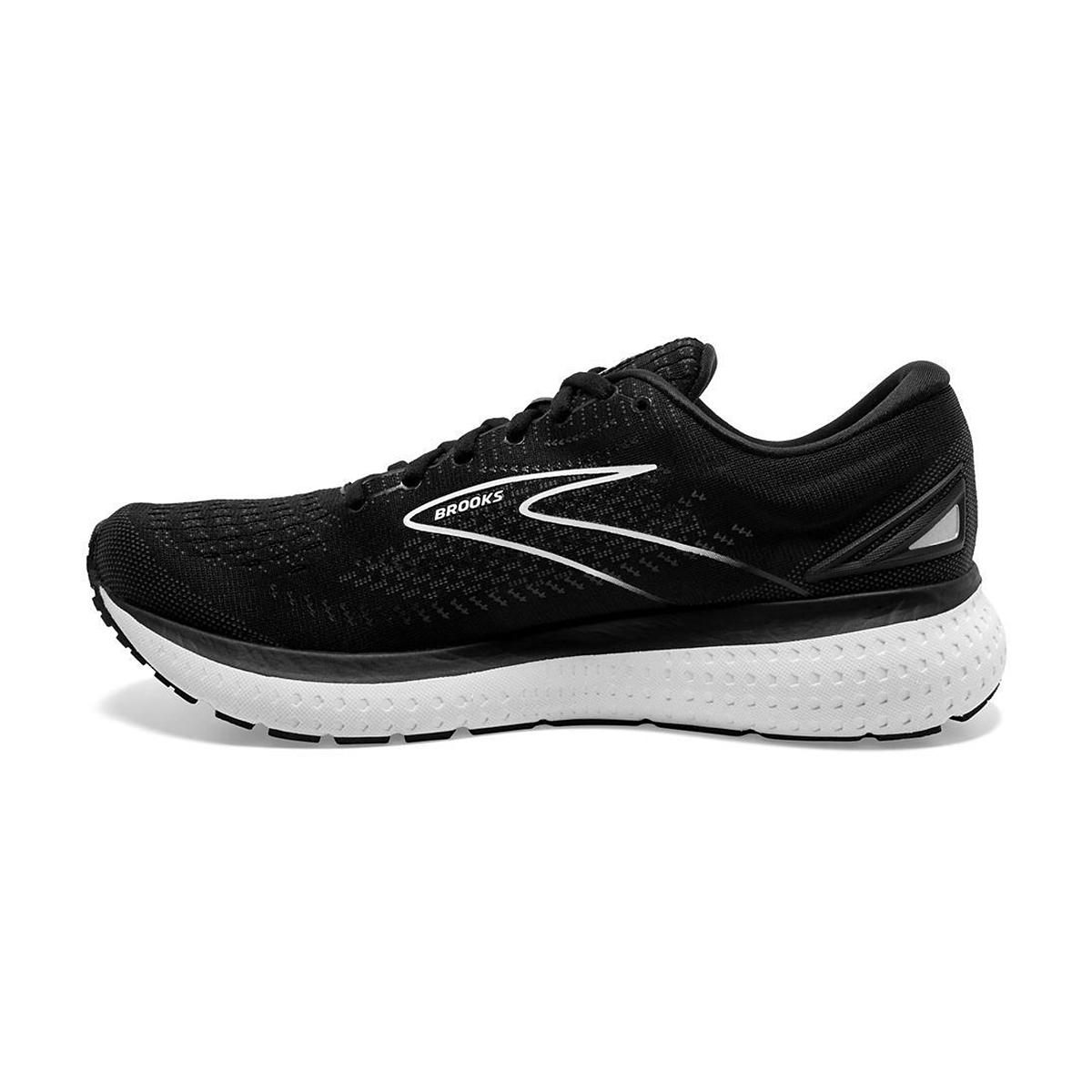 Women's Brooks Glycerin 19 Running Shoe - Color: Black/White - Size: 5 - Width: Regular, Black/White, large, image 2