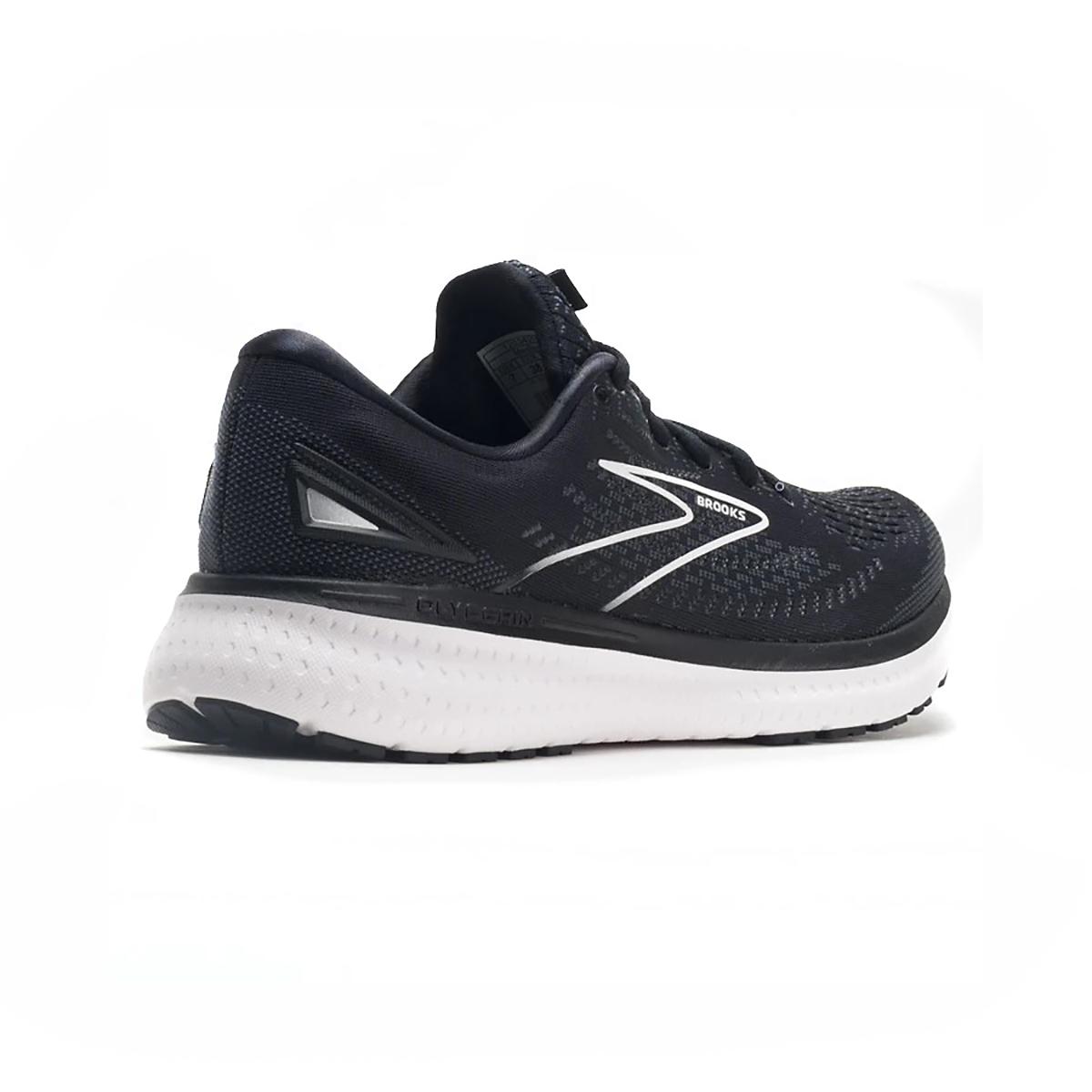 Women's Brooks Glycerin 19 Running Shoe - Color: Black/White - Size: 5 - Width: Regular, Black/White, large, image 4