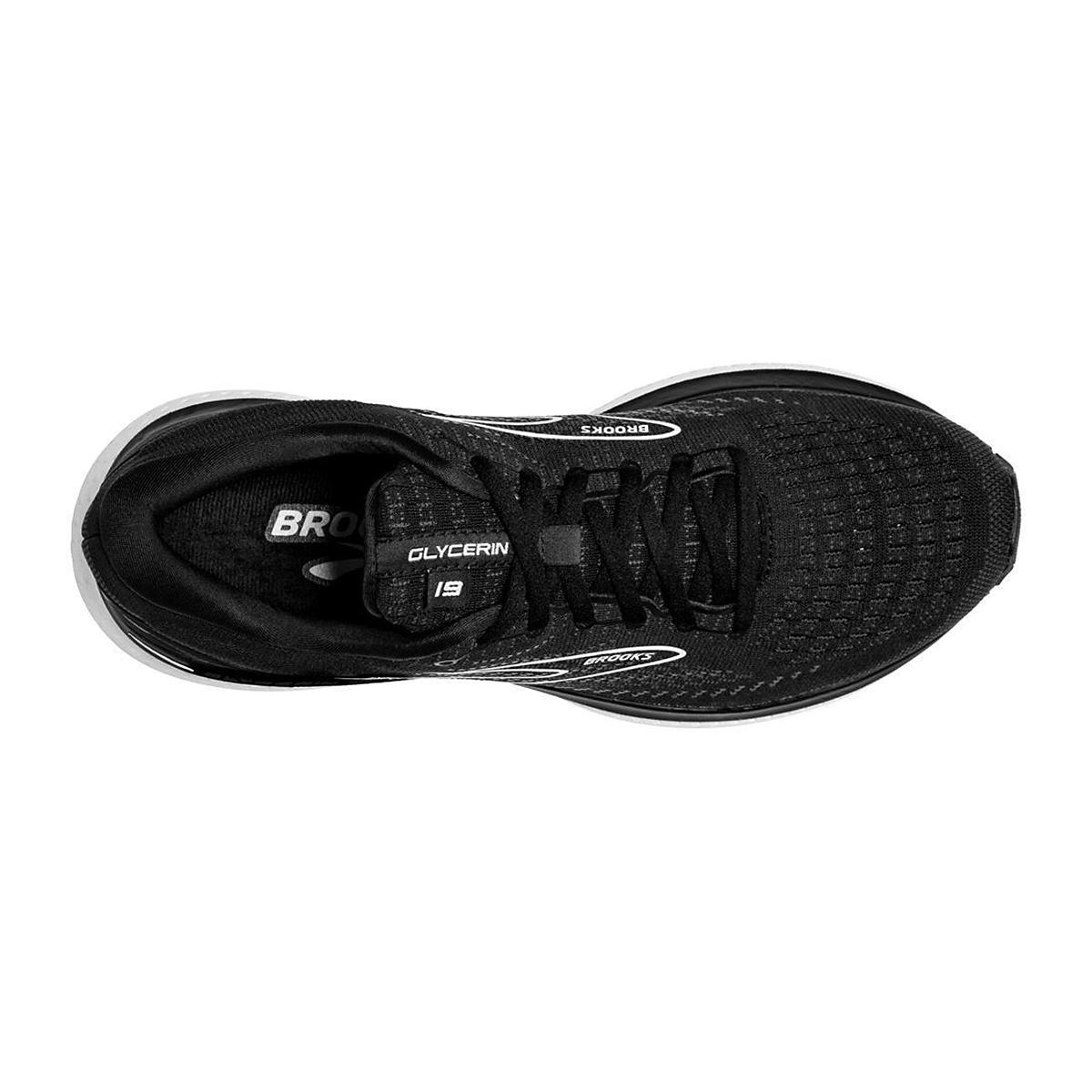Women's Brooks Glycerin 19 Running Shoe - Color: Black/White - Size: 5 - Width: Regular, Black/White, large, image 5
