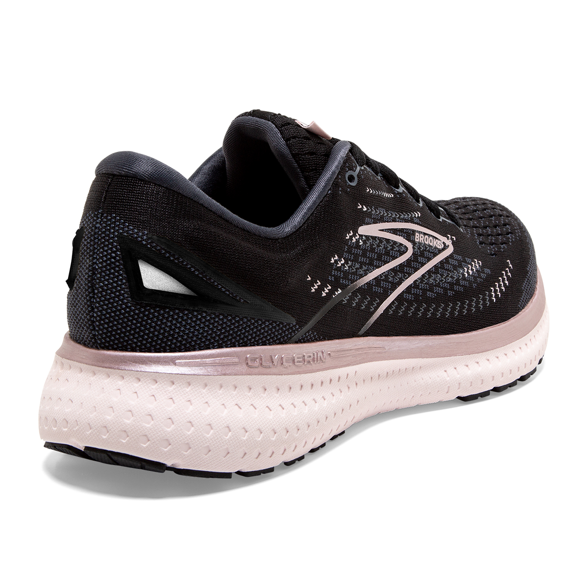 Women's Brooks Glycerin 19 Running Shoe - Color: Black/Ombre/Metallic - Size: 5 - Width: Regular, Black/Ombre/Metallic, large, image 5